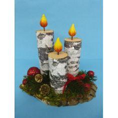 #Adventsbasteln mit Holz   Ein schönes Gesteck für die #Adventszeit basteln. Mit Bastelanleitung!