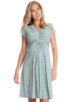 96d607005 Queen Bee Sage Green Polkadot Front Knot Maternity Dress by Seraphine Ropa  Para Embarazadas