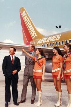 Southwest Airlines Flight Attendants 1970's      www.facebook.com/VintageAirliners  www.vintageairliners.com