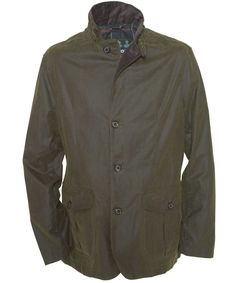 Men's Barbour Lutz Waxed Jacket - Navy