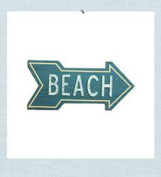 Seaside Inspired Beach Arrow Sign | $31