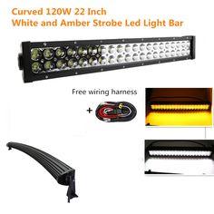 "22/"" 120W Philips Led Light Bar Spot/&Flood Driving Lamp Off-road 4WD Boat 12V 24V"