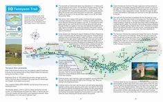 There are many walking routes on the Isle of Wight and we produced a booklet of walks for Isle of Wight Tourism showing some of the major routes. This example is the Tennyson Trail from Carisbrooke to Alum Bay.