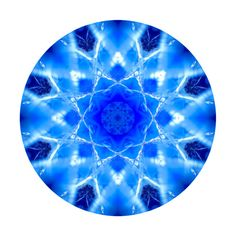 Blue Abstract - Circle - Beautiful Mandala - Ice Snow Scottish Mountain Colours - Spiritual Kaleidoscope