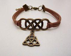 Clexa, Lexa and Clarke, Heda and Wanheda, double infinity triquetra bracelet