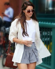 Lana Del Rey out in New York. Beautiful white