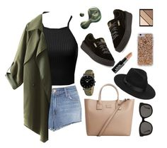 """Spring time🍀"" by xanniee on Polyvore featuring J Brand, MANGO, Illamasqua, Elizabeth Arden, Lack of Color, Gentle Monster, CLUSE, NYX, Puma and Case-Mate"