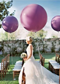 Balloon Wedding Ceremony Aisle Markers
