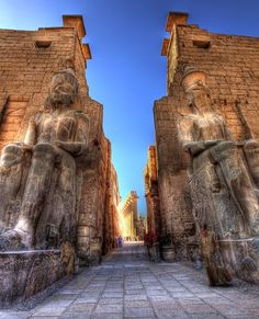 Luxor Temple is a large ancient Egyptian temple complex located on the east bank of the Nile River and was founded in 1400 BCE. It houses six temples and a chapel. Luxor Temple, Egyptian Temple, Places To Travel, Places To See, Travel Destinations, Ancient Ruins, Ancient Egypt, Places Around The World, Art History