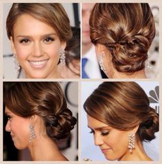 Trendy Wedding Hairstyles For Bridesmaids Up Dos Easy Updo Bridesmaid Hair Updo, Prom Hair Updo, Bridal Hair Updo, Ombré Hair, Wedding Hair And Makeup, Hair Dos, Hair Makeup, Bridesmaids, Side Hairstyles
