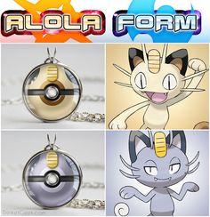 Alolan Meowth pokeball designs~ Pokemon Sun and Moon! :3  #treats4geeks #pokemon #pokemonsunandmoon