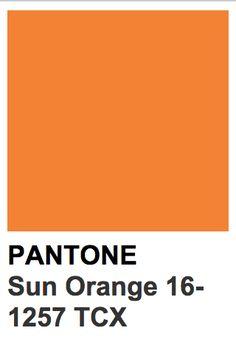 Pantone 16-1257 TCXSun Orange