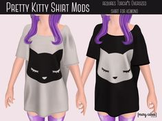 Pretty Kitty Mods for Torchi's Oversized Shirt