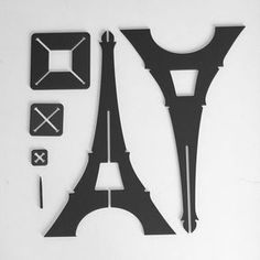 'Olala la Parisienne' Eiffel towers - Product Design Symbol of the Made in France the Olala Eiffel tower is a product for tourists wishing to buy a product actually coming from the country they're visiting, and which visually speaks of it. Laser Cutter Projects, Cnc Projects, Woodworking Projects, Paris Party, Paris Theme, Eiffel Tower Craft, Eiffel Towers, Cardboard Crafts, Paper Crafts