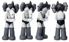 ORIGINAL FAKE KAWS ASTRO BOY IN MONO MEDICOM BRAND NEW IN BOX