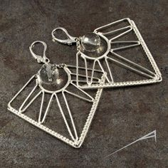 Innovative Wire Wrapped Earrings by Arrabeska ~ The Beading Gem's ...