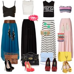 long skirt outfit❤