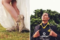 Rugby wedding photo's Ashley & Galu Taufale