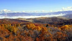 Fog over the Ogden Valley seen from Snowbasin Ski Resort. (Photo by Ron Johnson)