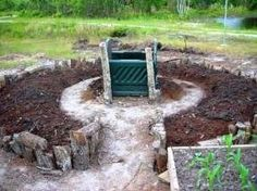 Get more square footage with a key hole garden