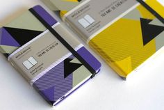 Moleskine twin notebooks limited edition designed for the 160th anniversary of Bon Marché, Paris. The cover artwork is inspired by an historical poster of the Parisian department store, adapted and simplified.