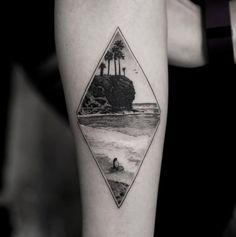 seaside-landscape-tattoo.jpg (595×598)