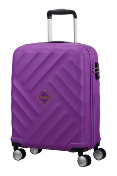 Maleta de cabina American Tourister Crystal Glow 4 ruedas silenciosas.Suitcase 55x40x20cm Deep Purple