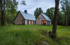 HGA Architects have designed a group of cottages to provide senior musicians accommodation at the Marlboro College campus in Marlboro, Vermont.