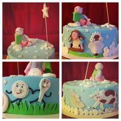 The cake i made for a contest! Nursery Rhymes cake theme.