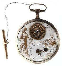 "Pierre and Henri-Louis Jaquet-Droz and Jean-Frédéric Leschot 18th century watch at the ""Automates & merveilles"" (Automata and marvels) exhibition"
