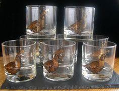 Vintage Couroc of Monterey Set of 8 QUAIL by SaltwaterVillage