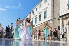 Weddings in Dubrovnik - walking through Stradun towards Sponza Palace