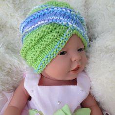 Cotton Crochet baby turban Fashion Turban Infant knit baby turban crochet baby hats Crochet baby Hat baby photo prop Baby Turbans Knit Hat
