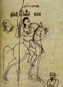 Medieval Nubian king