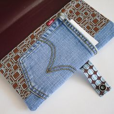 Gorgeous denim book cover, including a pocket for an extra notebook and penholder! All in one unique design for a gift, teen or special item for yourself!!