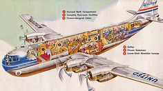 Take a look inside a 1950s Stratocruiser 377. By: x-ray delta one on Flickr