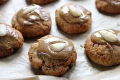 Frosted Apple Almond Butter Cookies #veganMonster