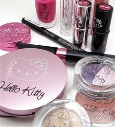 Sanrio Hello Kitty, Chat Hello Kitty, Hello Kitty Makeup, Hello Kitty Items, Kitty Kitty, Rimmel, Maybelline, Cute Makeup, Beauty Makeup