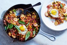 Corn and Zucchini Hash with Pancetta & Eggs | Marley Spoon