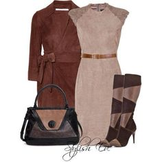 Light and dark brown set