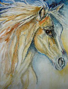 mosaic art gallery horse love