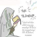 Gambar Kartun Muslimah Mengaji