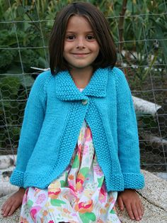 Knitting - Patterns for Children & Babies - Cardigan Patterns - Top Down Encore Jacket