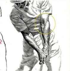 Ben Hogan's Five Lessons of Golf.  The moment of truth of any golfers swing, impact position!