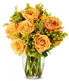 From You Flowers - Oak and Fall Roses (Free Vase Included...