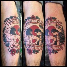 40 Pulp Fiction Tattoo Designs for Men – Movie Ink Ideas - Tattoo Style 90s Tattoos, Movie Tattoos, Pin Up Tattoos, Tattoo You, Body Art Tattoos, Cool Tattoos, Geek Tattoos, Tatoos, Tattoo Legs