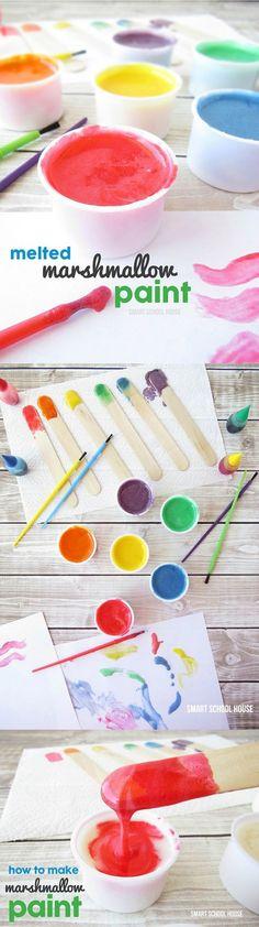 How to make marshmallow paint. Fun kids activity!