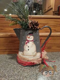 snowman is a coffee pot :)