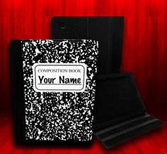 I so need this! Composition Book Leather Case For iPad 2 iPad 3 by CustomizeMeAz, $35.00