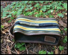 Gap 1969 Canvas Leather Zip Dopp Travel Kit Make Up Cosmetics Shaving Bag Pouch #Gap #DoppKitCosmeticBag